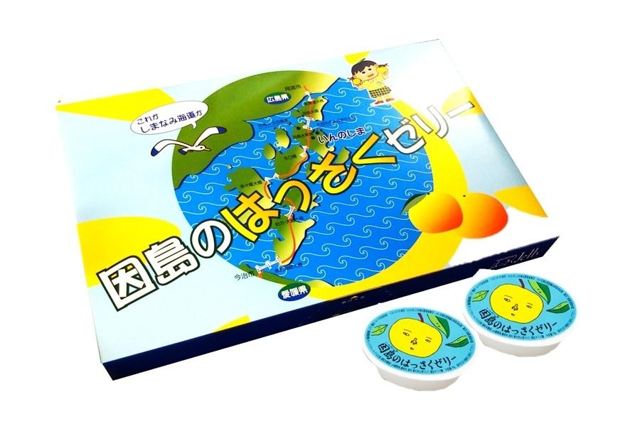 画像1: 因島のはっさくゼリー 12個入 (1)